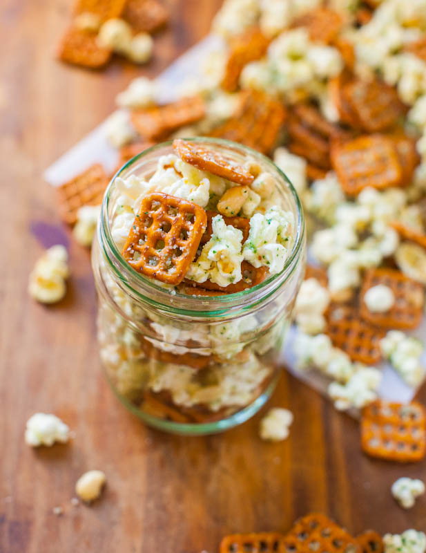 Parmesaanse Ranch Snack Mix
