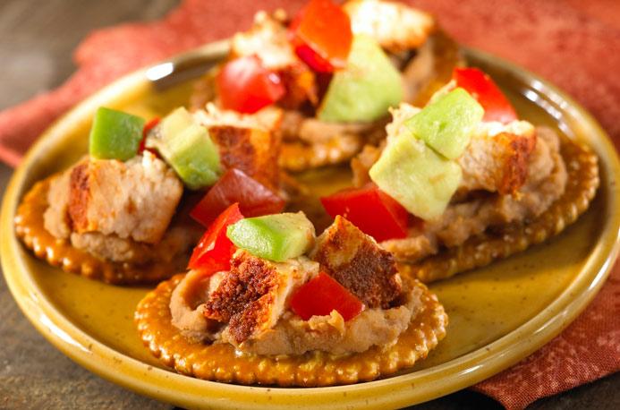 Mexicaanse kip toastjes