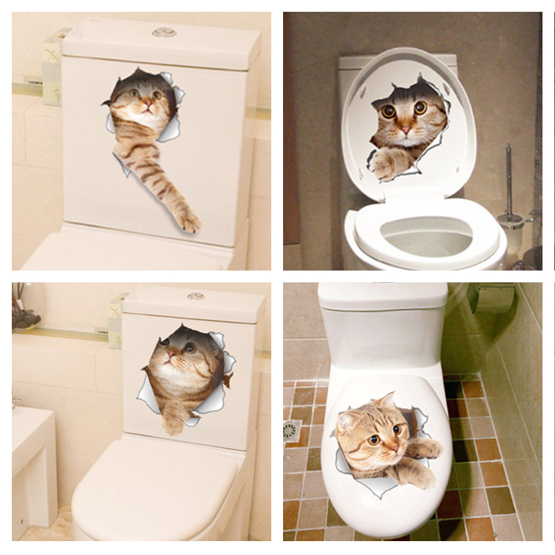 Levendige 3d Katten Stickers Verjaardag Hapjes